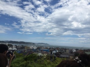 Cityscape and the sea of Kamakura.