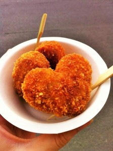 Heart shaped croquette