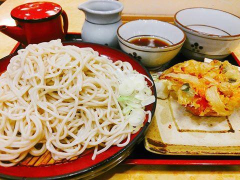 """Hiyashi-Tempura-Soba"" (Cold type)."