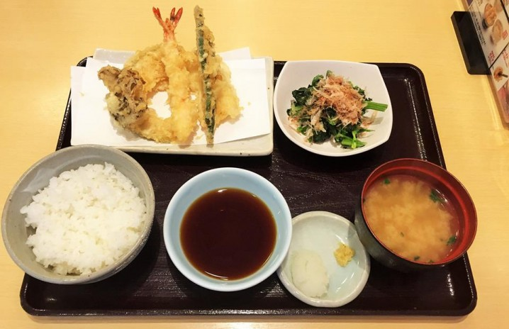 "Set meal type ""Tempura"" (""Tempura teisyoku"")."