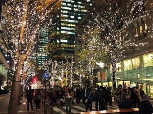 "The illuminations of ""Marunouchi""."