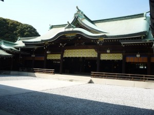 The main shrine building of Meiji Jingu