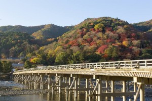 Togetsukyo and colored leaves