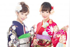 "Girls wears ""Kimono"" or ""Hakama"". There is a family preparing for ""Kimono"" for more than one year."