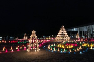 Uesugi Snow Lantern Festival at night