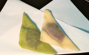 "Bean jam stuffed ""Yatsuhashi""."