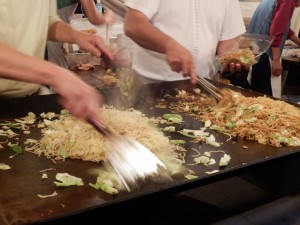 "Making ""Yakisoba"" at festival."