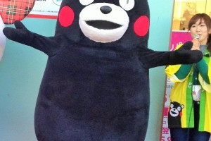 "The Japan's most famous ""Yuru-chara"", ""Kumamon"". (©2010 kumamoto pref. kumamon)"