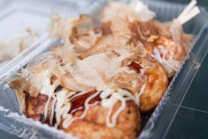 """Takoyaki"" is soul food at ""Osaka""."