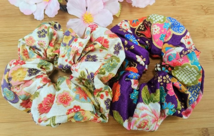 Japanese pattern Scrunchie