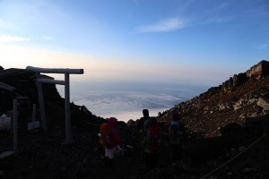 """The opening day of the mountaineering season in """"Mt. Fuji""""."""