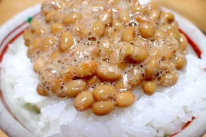 "We usually eat ""Natto"" with rice."