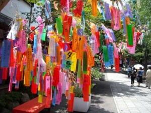 We write our wishes on a colorful strip.