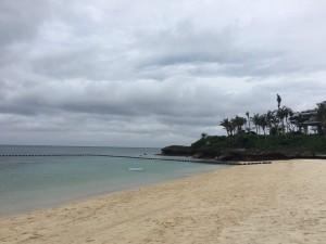 A beautiful white sand beach.
