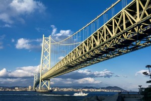 Akashi Kaikyo Bridge a length of 3911meters!