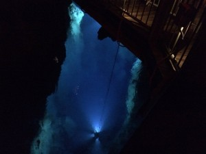 Bottom of the cave.