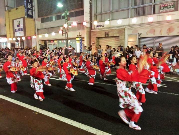 "Female dance, the ""Kunpu Mogamigawa""."