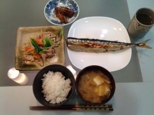 """""""Sanma-no-shio-yaki"""" dish."""