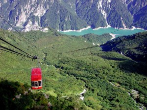 ropeway with beautiful scenery.