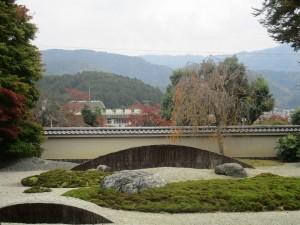 """the garden with backdrop of """"Hiei-zan"""""""