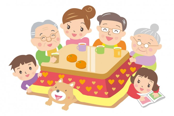 """Kotatsu"" is the location of the hearthstone of the family."