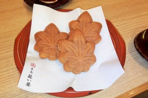 """Momiji manjyu"" from ""Fujiiya""(Long-established store of Momiji manjyu) in Hiroshima."