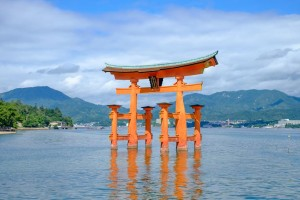 the torii of the Itsukushima Shrine