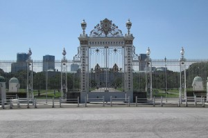 "Main gate of ""Akasaka Palace""."