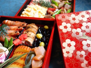 "Japanese eat ""Osechi"" (New Year dishes) during New Year."