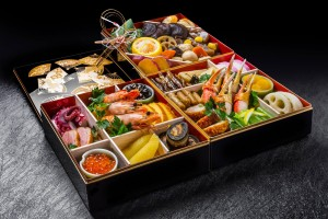 """Kazunoko"" is presented in the first layer of ""Osechi""."
