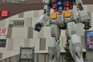 There are full-size Gundam statue
