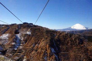 the magnificent view of Mt. Fuji from ropeway.