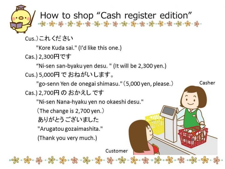"Studying Japanese: How to shop ""Cash register edition"""