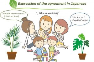 [Studying Japanese word : Expression of the agreement]
