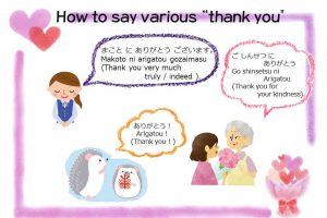 Studying Japanese: How to say various thank you