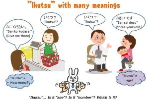 "[Studying Japanese: ""Ikutsu"" homonyms in Japanese]"