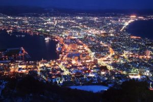 Night view in Hakodate.