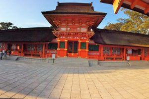 The beautiful main shrine building is appointed to a national treasure.