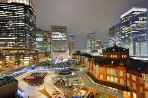Tokyo Station building and the Marunouchi business district