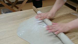 making Soba step 2.