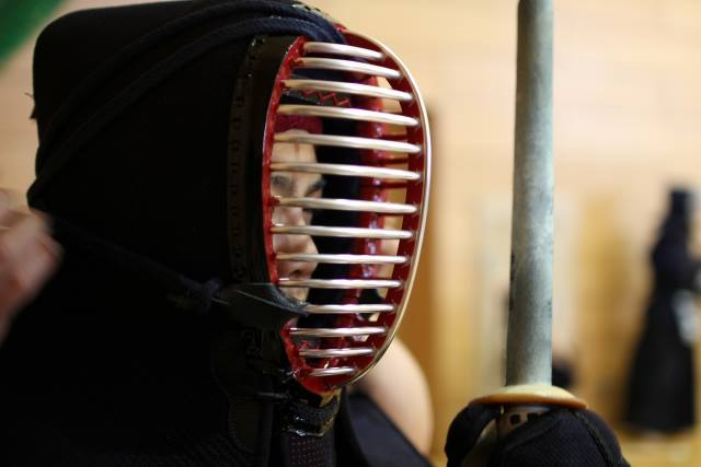 "wearing armor protection for ""Kendo"""