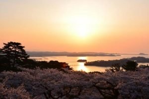 Beautiful view of Matsushima.